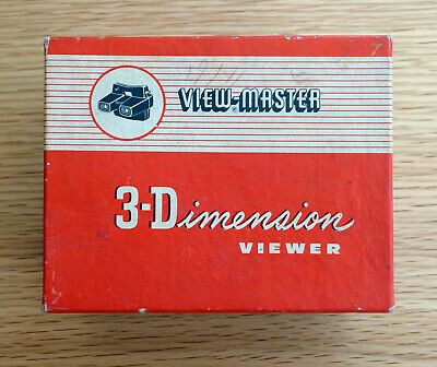 Viewmaster Model E Stero Viewer Boxed C.1950's RARE VINTAGE VIEWER WITH DISCS • 4.99£
