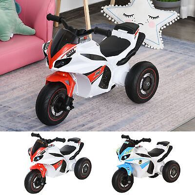 Kids Walking Ride-On Police Bike 3-Wheel Vehicle W/ Music Lights Safe 18-36 Mths • 28.99£
