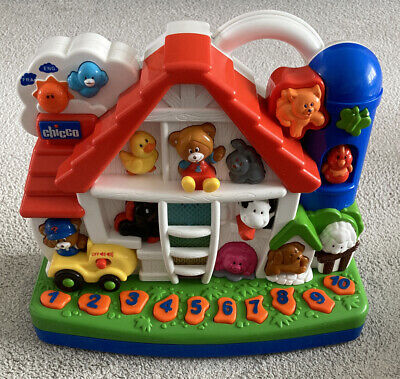 Chicco Toys Bi-Lingual Talking Farm Animals Light & Sound French & English! • 16.95£