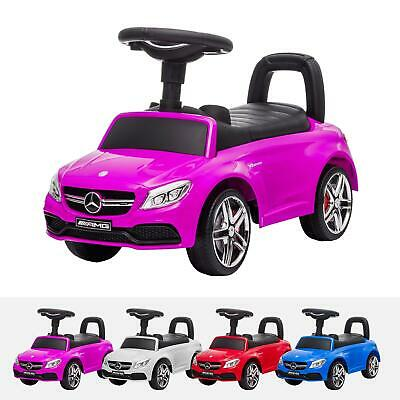 Kids Licensed Ride On Mercedes C63 Push Along Ride On Car With Leather Seat • 39£