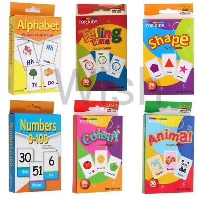 Kids Flash Cards Flashcards For Preschool Learning. • 4.98£