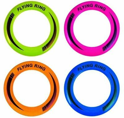 50 X Neon Flying Ring Disc Frisbee Flyer Adult Kids Family Dog Outdoor Toy 25cm • 3.79£