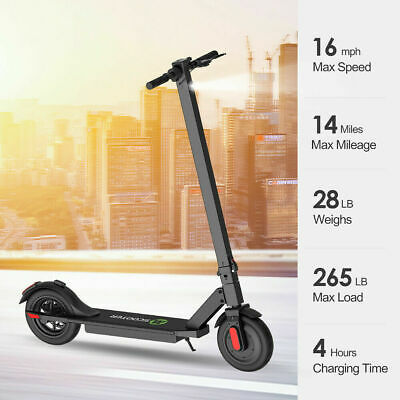 🛴 Portable Electric Scooter Adult Folding Kick E-Scooter Black • 230£