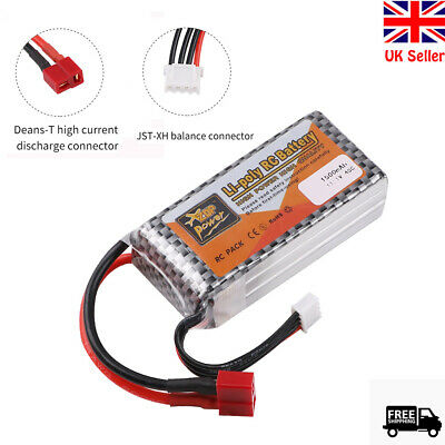 1500mAh 11.1V 3S LiPo Battery 40C T Plug For RC Car Airplane Helicopter • 14.99£