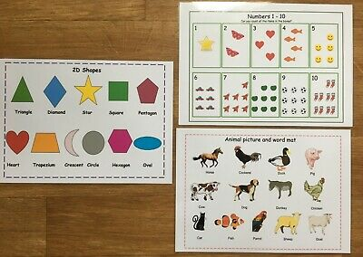 Pre School Learning Resources, Learn Animals, Learn Numbers 1 - 10, Learn Shapes • 3£