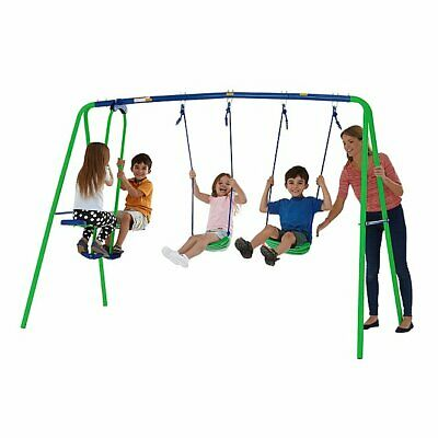 Garden Double Swing And Seesaw Glider Set Childrens Outdoor Toy Boys Girls • 63.85£
