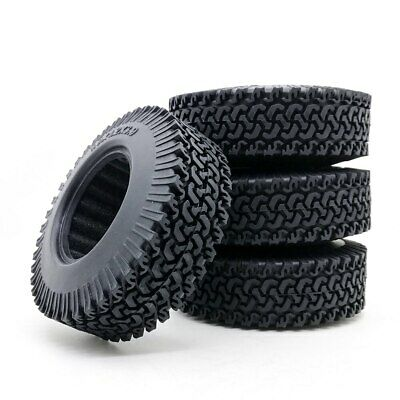 "1:10 Rock Crawler Rubber Wheels Tire 1.9"" 98mm Tyre For Tamiya Truck Axial SCX10 • 12.99£"