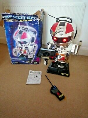 Vintage Scooter 2000 Giant Remote Control Robot With Tray & Instructions & Box • 125£