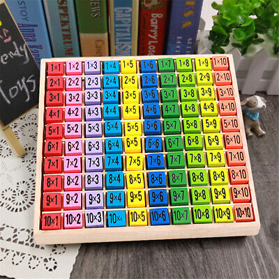 Wooden Times Table Board Educational Learning Resources Montessori Xmas Toy Gift • 11.19£