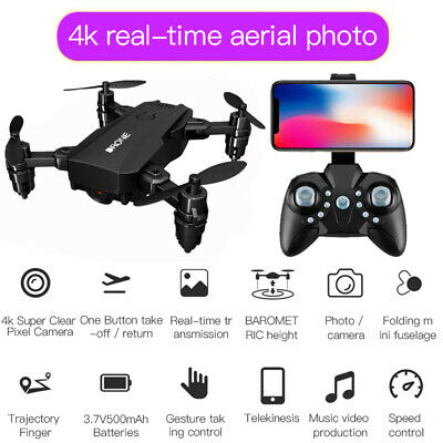 S107 Foldable RC Drone With 4K HD Camera Wifi FPV Selfie RC Quadcopter • 22.99£
