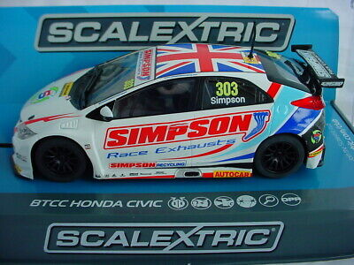 Scalextric Honda Civic Type R #303 Matt Simpson BTCC 2017 C3915 MB DPR. • 32.95£