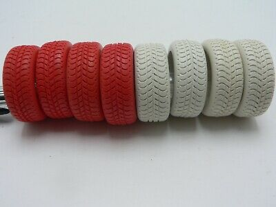 Scalextric Range Rover Tyres 4 Red 4 White.  • 5£