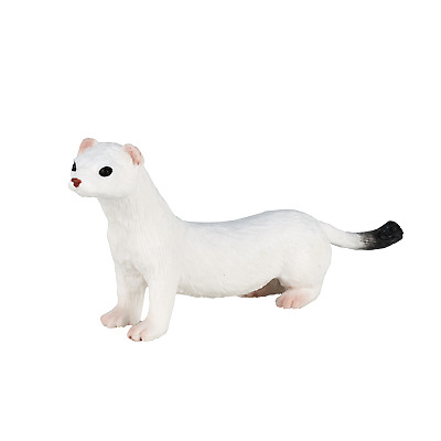 .Mojo ERMINE Wild Countryside Animals Play Model Figure Toys Plastic Forest • 6.75£
