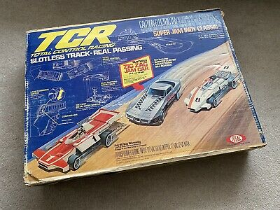 1978 IDEAL TCR Super Jam Indy Classic Slotless Track Set Zig Zag Car - NEW RARE • 125£