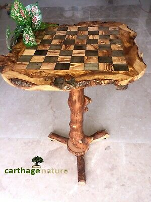 Christmas Gift, Olive Wood Chess Set Board With Stand 23 , Boyfriend Gift, US • 84.31£