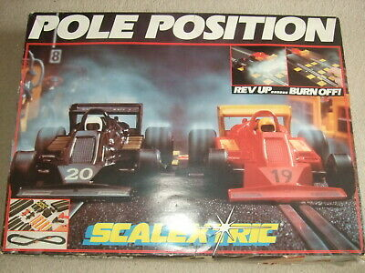Complete Boxed Pole Position  Scalextric Set With Extra Sidecars. • 55£