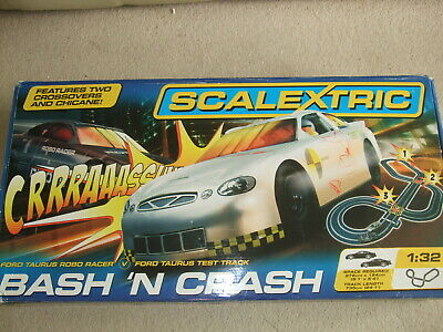 Complete Boxed Bash 'n' Crash Scalextric Set. • 55£