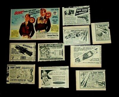 DAN DARE 10x STUNNING VINTAGE ADVERTS FOR TOYS CLOTHES GAMES Etc ALL 1950s LOT3  • 3.99£