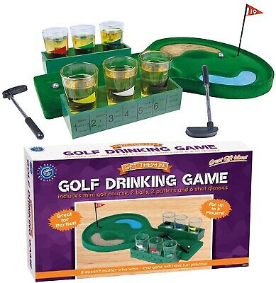 Mini Golf Hole Drinking Game Glasses Shots Putter Adults Drink Party Fun X'mas • 11.39£
