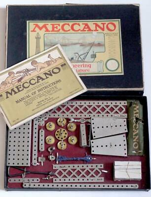 Meccano American (no1) Outfit C 1916 In Original  Box And Instructions • 275£