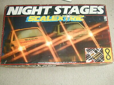 Complete Boxed Night Stages Scalextric Set. • 65£