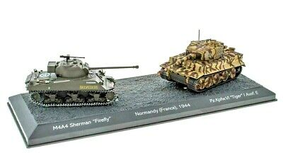 Atlas Editions 1:72 Ref.no.lv02 The Battle Of Normandy 2 X Tanks Diorama • 13.99£