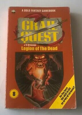 GRAIL QUEST Roleplaying Game Book 8 LEGION OF THE DEAD Armada JH Brennan • 14.50£