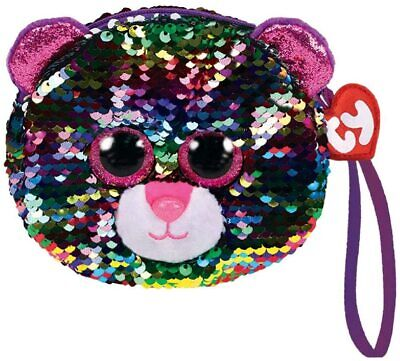 TY Beanie NEW With Tags ~ Sequin Wristlet Purse Dotty The Leopard • 6.99£