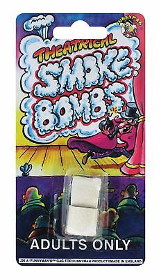 2 Theatrical Smoke Bombs - Classic Practical Joke Novelty Party Trick Prank • 2.49£