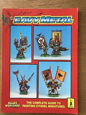 Games Workshop Eavy Metal Painting Guide 1993 - Very Good Condition • 10£