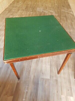 Vintage Folding Card Playing Bridge Poker  Table Green Top COLLECTION ONLY  • 140£