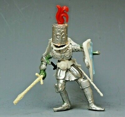 Vintage Plastic 54mm: 1st Series 'Swoppet' Knight #4 ~ Rare In This Condition • 24.99£