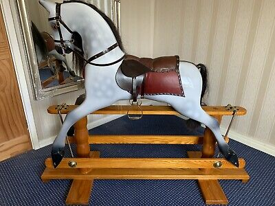 Wooden Rocking Horse - Deluxe Handmade, Real Horse Hair. • 999.99£
