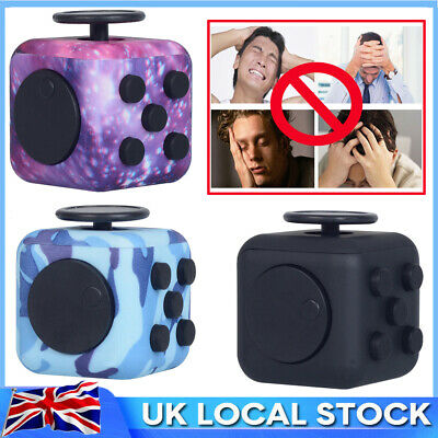 Fidget Cube Spinner Toy Children Desk Adult Stress Relief Cubes ADHD UK Camo HOT • 5.89£