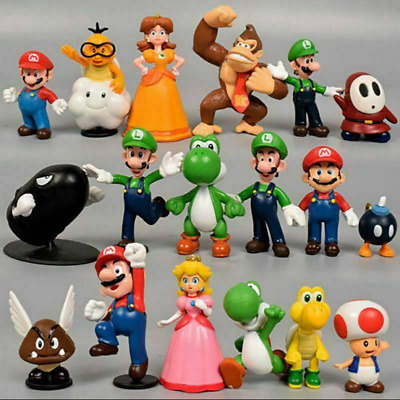 Xmas Holiday Gift 18 Pcs Super Mario Bros Action Figure Doll Figurine Toys Model • 9.89£