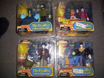 The Beatles Yellow Submarine Figures Lot Of 4 . Still Sealed • 199£