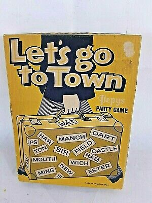 Vintage Lets Go To Town 1930's Pepys Party Game Complete  • 8.99£