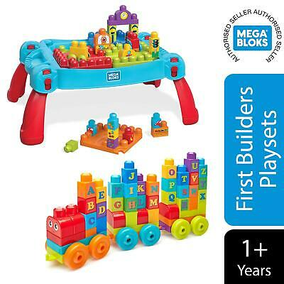 Mega Bloks Build & Learn Table Or Building Basics ABC Learning Train • 11.99£