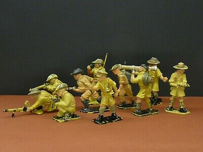 Lone Star Harvey Desert Troops Vintage Plastic Figures - VGC • 26.99£