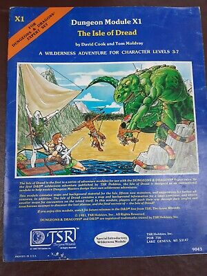 Dungeons & Dragons Dungeon Module X1 The Isle Of Dread 1981 TSR D&D • 5£