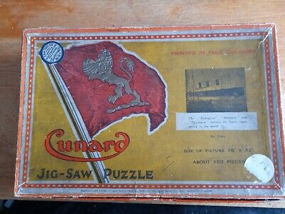 CHAD VALLEY - CUNARD LINER - WOODEN JIGSAW PUZZLE  150 Pieces • 18£