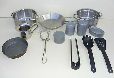 IKEA Childrens Realistic Metal & Plastic Play Pretend Role Play Kitchen Utensils • 19.99£