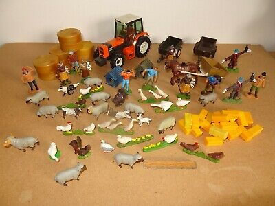 Vintage Britains Ltd Renault Farm Tractor + Large Job Lot Of Farm Models • 9.95£