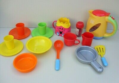 Early Learning Role Play Kitchen Toy Bundle Kettle With Sounds Little Miss Cup • 11.75£