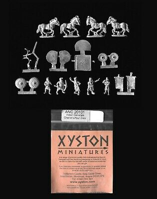 Xyston 15mm Ancients ANC20101 Indian General's 4-Horse Chariot & Crew (1) • 5.50£