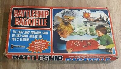 RARE! BATTLESHIP BAGATELLE - 100% Complete PETER PAN PLAYTHINGS 1977 • 24.99£