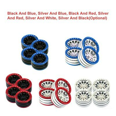 "4PCS 1.9"" Tire Hub Wheels Rim Set Beadlock For RC Crawler 1/10 SCX10 TRX4 D90 • 29.99£"