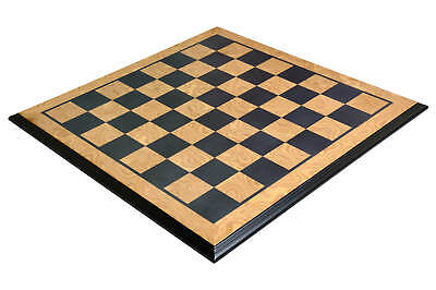 Luxe Traditional Chess Board - MAPLE BURL / EBONY - 2.5  Squares • 150.30£