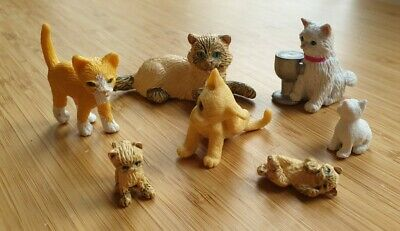 Collection Of 7 Toy Cat/kitten Figures  • 4.99£