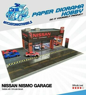 1:64 Scale Nissan Nismo Garage/Showroom Diorama Building Kit For Hot Wheels • 17.72£